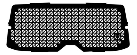 Raamrooster voor de Renault Kangoo achterklep met R.W. uitsparing vanaf 2008 tot heden