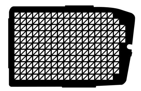 Raamrooster voor de Mercedes Vito zijdeur vanaf 2014 tot heden