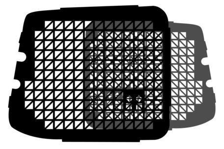 Raamrooster set voor de achterdeuren van een Dacia Dokker met R.W. uitsparing