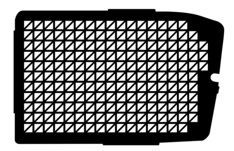 Raamroosters voor de zijdeur van een Dacia Dokker Van van 2013 tot heden